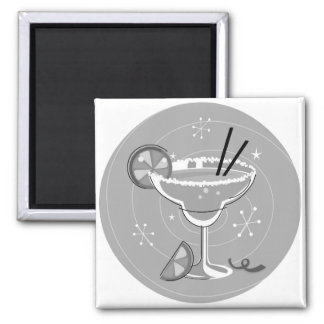 Design button with cocktail square magnet