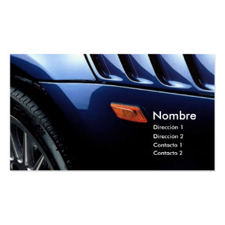 DESIGN CARS PACK OF STANDARD BUSINESS CARDS