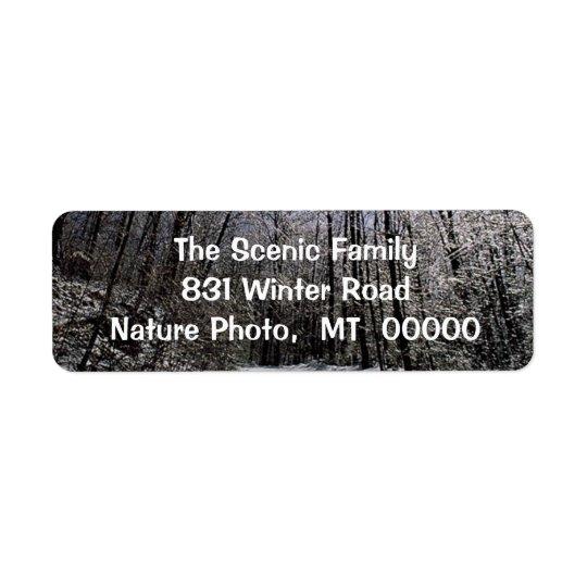 Design Christmas Greeting Cards Self Adhesive Labe Return Address Label