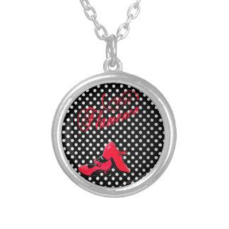 design dances flamenco, modern, alive colors personalized necklace
