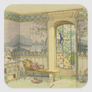 Design for a Bathroom from Interieurs Modernes Square Sticker