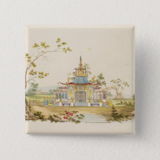 Design for a Chinese Temple, c.1810 (pen & ink and 15 Cm Square Badge