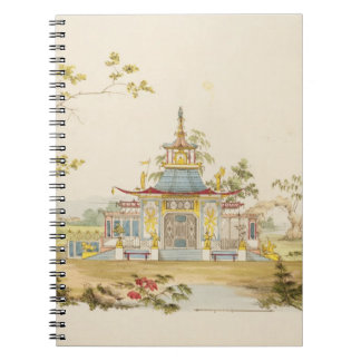 Design for a Chinese Temple, c.1810 (pen & ink and Spiral Notebook