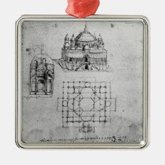Design for a church, fol. 4r christmas ornament