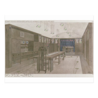 Design for a Dining Room, 1901 (colour litho) Postcard