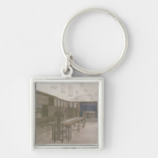 Design for a Dining Room, 1901 (colour litho) Silver-Colored Square Key Ring