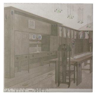 Design for a Dining Room, 1901 (colour litho) Tile