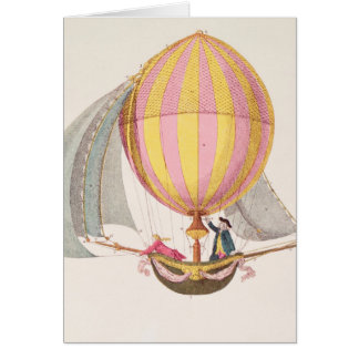 Design for a dirigible, French, c.1785 Card