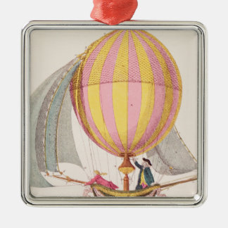 Design for a dirigible, French, c.1785 Christmas Ornament