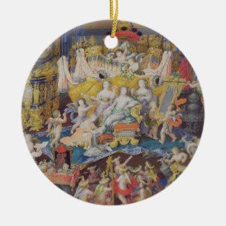 Design for a Fan, possibly for Madame de Montespan Round Ceramic Decoration
