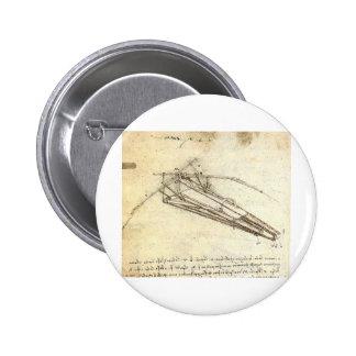 Design for a Flying Machine by Leonardo Da Vinci 6 Cm Round Badge