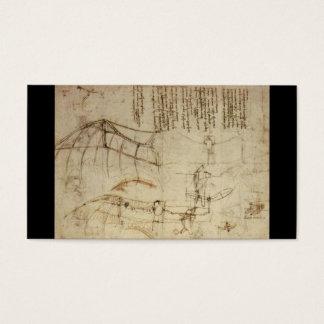 Design for a Flying Machine by Leonardo Da Vinci Business Card