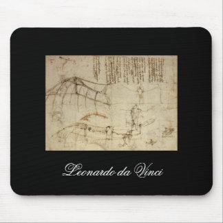 Design for a Flying Machine by Leonardo Da Vinci Mouse Pad