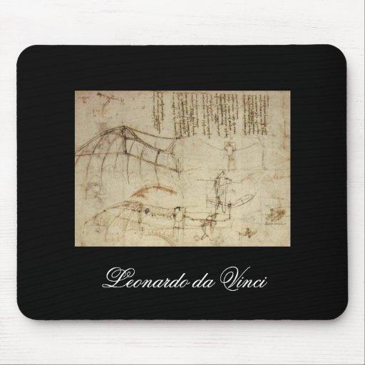Design for a Flying Machine by Leonardo Da Vinci Mousepad