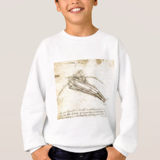 Design for a Flying Machine by Leonardo Da Vinci Sweatshirt