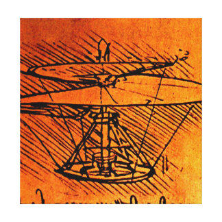 Design For A Helicopter -  Canvas Reproduction Canvas Print