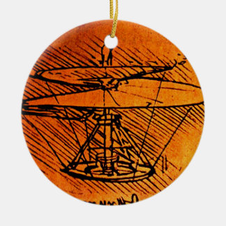 Design For A Helicopter Round Ceramic Decoration