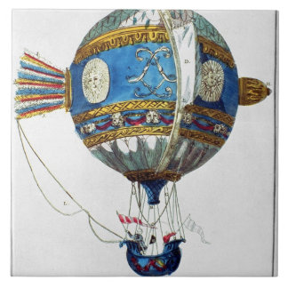 Design for a hot-air balloon with a diameter of 12 large square tile