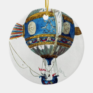 Design for a hot-air balloon with a diameter of 12 round ceramic decoration