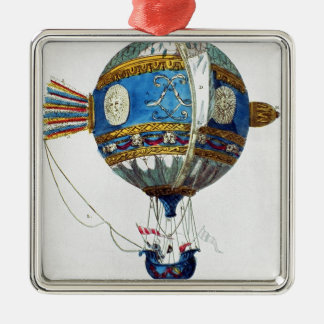 Design for a hot-air balloon with a diameter of 12 Silver-Colored square decoration