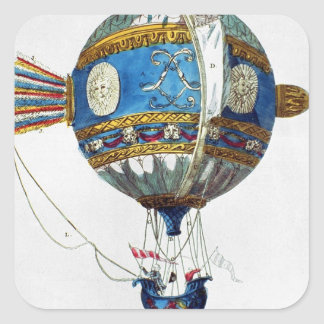 Design for a hot-air balloon with a diameter of 12 square sticker