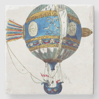 Design for a hot-air balloon with a diameter of 12 stone coaster