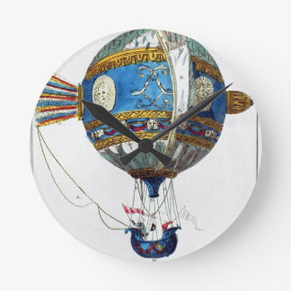 Design for a hot-air balloon with a diameter of 12 wallclock
