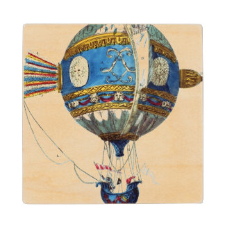 Design for a hot-air balloon with a diameter of 12 wood coaster
