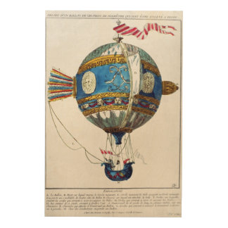 Design for a hot-air balloon with a diameter of 12 wood wall art