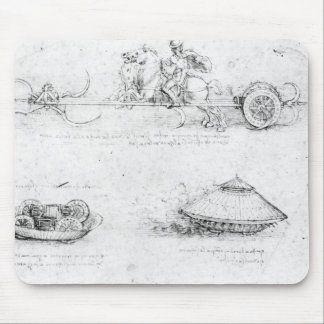 Design for a scythed chariot and armoured car mouse pad