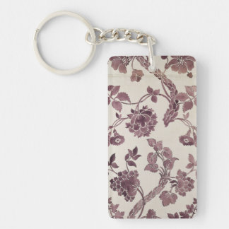 Design for a silk damask, 1752 (pencil and w/c on key ring