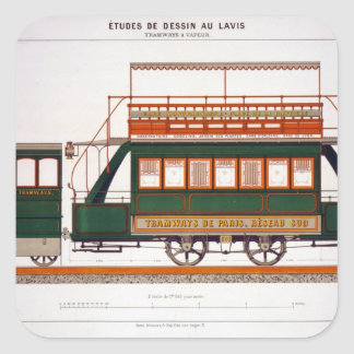 Design for a Steam Tram, plate 126 from 'The Indus Square Sticker