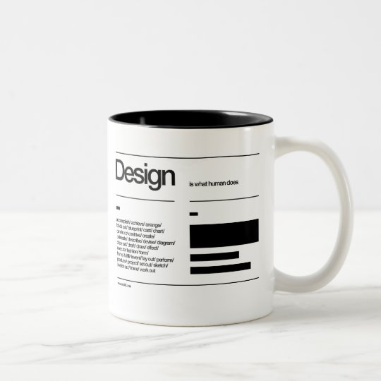 design for a wake up Two-Tone coffee mug