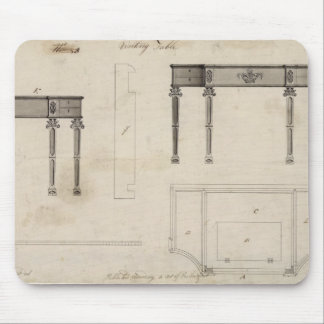 Design for a Writing Table (pen and ink with grey Mouse Pad