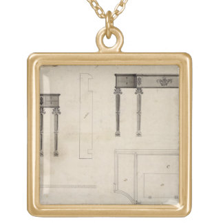 Design for a Writing Table (pen and ink with grey Necklaces