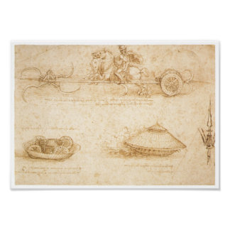 Design for an Armored car, Leonardo da Vinci Poster