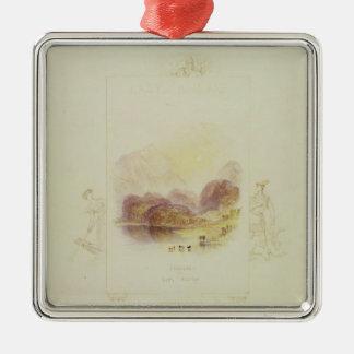 Design for an illustration for Walter Scott's 'Lad Christmas Ornament
