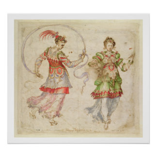 Design for Costumes, probably in the Florentine In Poster