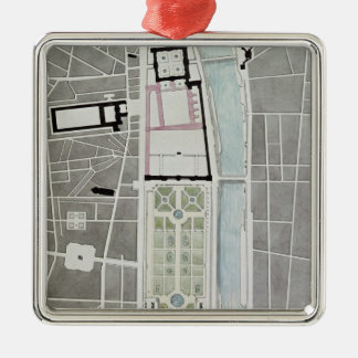 Design for joining the Tuileries to the Louvre Christmas Ornament