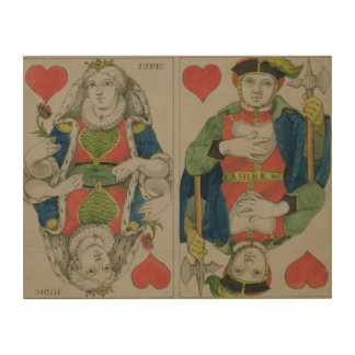 Design for playing cards, c.1810 wood wall decor