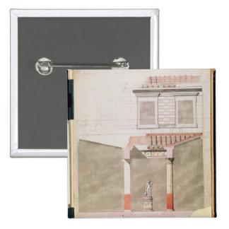 Design for the atrium of the Pompeiian palace 15 Cm Square Badge