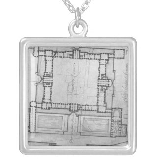 Design for the eastern buildings of the Louvre Silver Plated Necklace