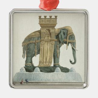 Design for the Elephant Fountain Christmas Ornament
