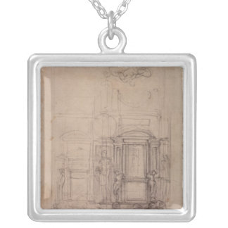 Design for the Medici Chapel Silver Plated Necklace