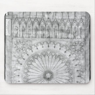 Design for the rose window and gallery of mouse pad