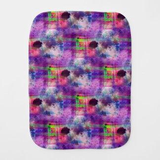 Design green, purple texture watercolor burp cloth