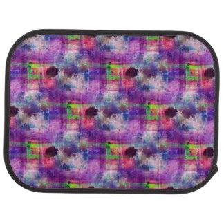Design green, purple texture watercolor car mat