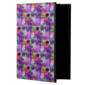 Design green, purple texture watercolor cover for iPad air