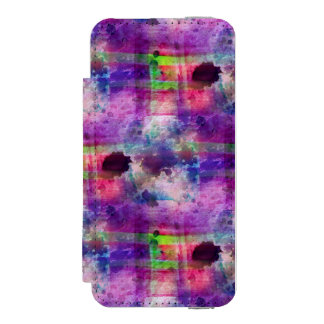 Design green, purple texture watercolor incipio watson™ iPhone 5 wallet case