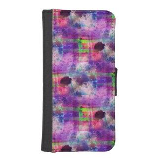 Design green, purple texture watercolor iPhone SE/5/5s wallet case